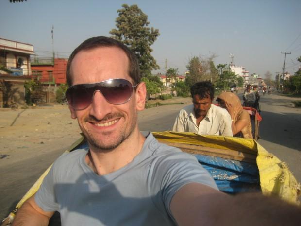 overland traveller - niall-doherty-rickshaw-nepal