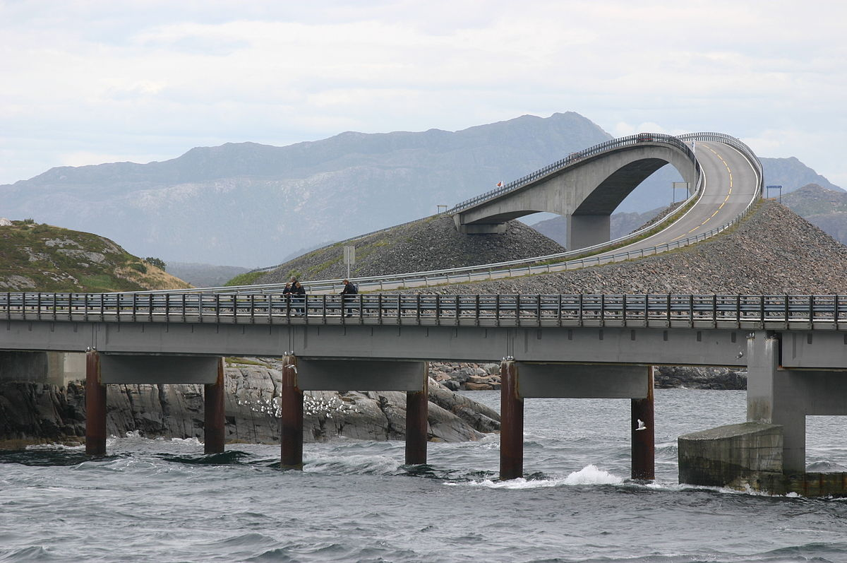 The Atlantic Road is one of The most photogenic overland travel routes in Europe ... photo by CC user Ernst Vikne on Flickr